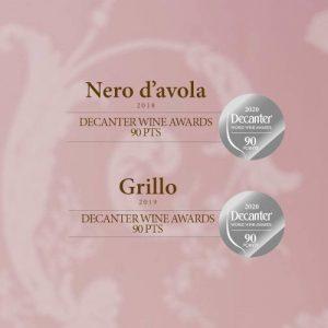 Decanter Wine Award Stemmari Nero d'Avola en Grillo